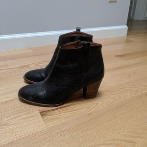 Madewell black leather boots